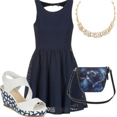 Outfit Magia del blu