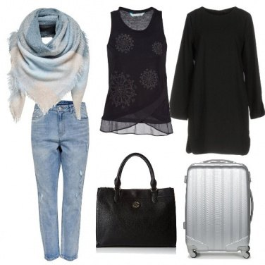 Outfit Airport style by Color