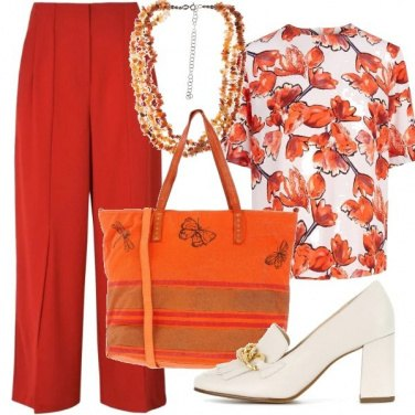 Outfit Ufficio in colori caldi