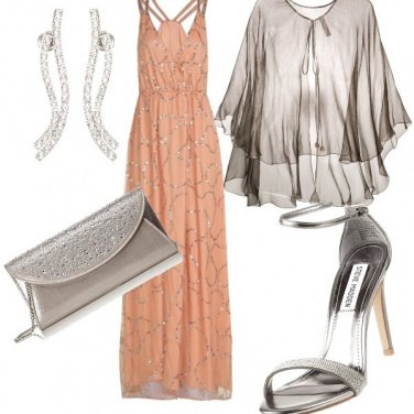 52db493a2a7f Rosa antico e argento  outfit donna Bon Ton per cerimonia