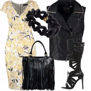 Outfit Let\'s rock that yellow