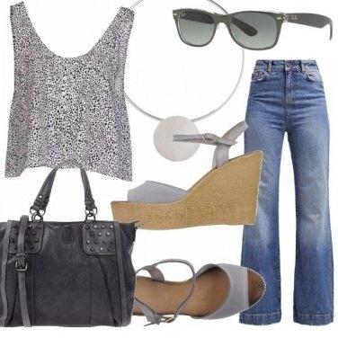 Outfit Jeans a zampa anni \'70