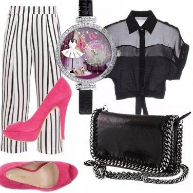 Outfit I pantaloni a righe 7/8