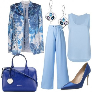 Outfit Azzurro chic
