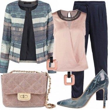 Outfit Quadrati rosa