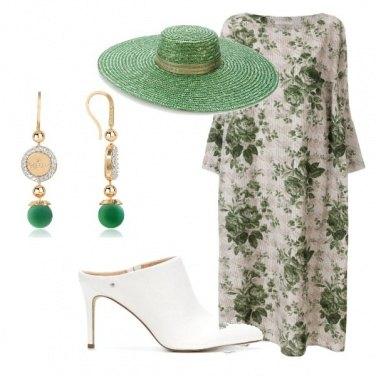 Outfit Verde poco impegnativo