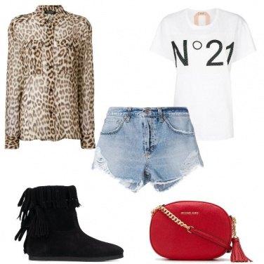Outfit La camicia animalier