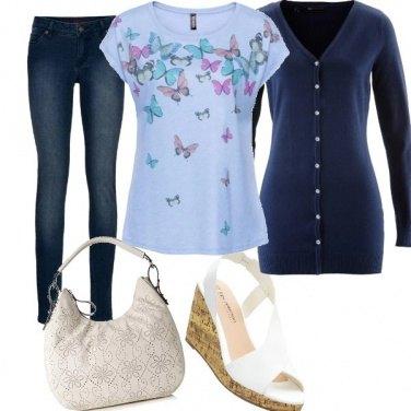 Outfit Farfalle e denim