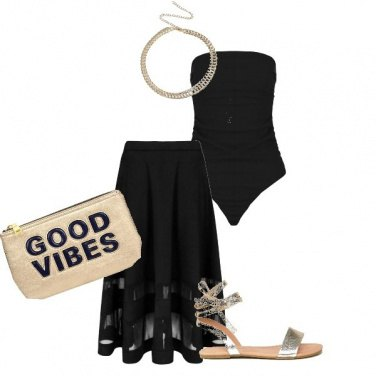 Outfit Black & gold