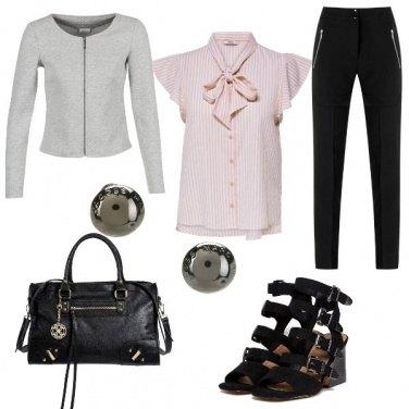 Outfit La camicia rosa