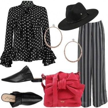 Outfit Un mix in bianco e nero