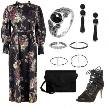 Outfit Black Floral