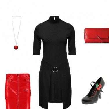 Outfit Rouge noir