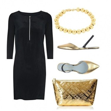 Outfit Premaman fashion gold
