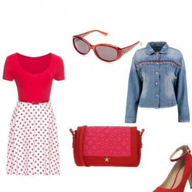 Outfit Signora in rosso