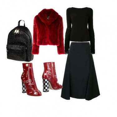 Outfit Black and red is better