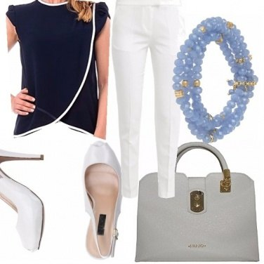 Outfit Blue navy&white
