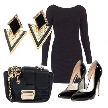 Outfit Black&gold