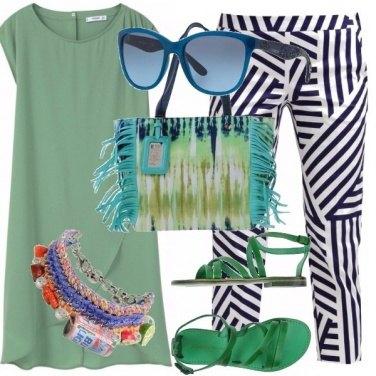 Outfit Verdi e blu