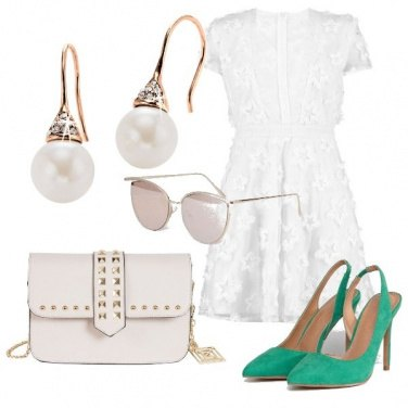 Outfit Il pizzo bianco