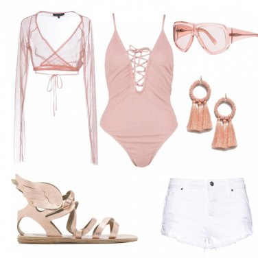 Outfit Coachella in pink