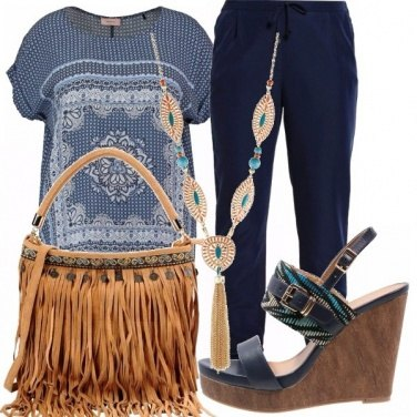 Outfit Hippy blu