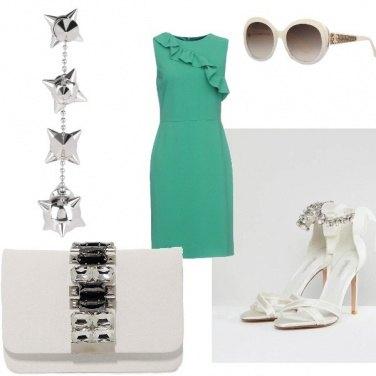 Outfit Verde acqua e bianco