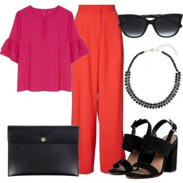 Outfit Rosso e fucsia