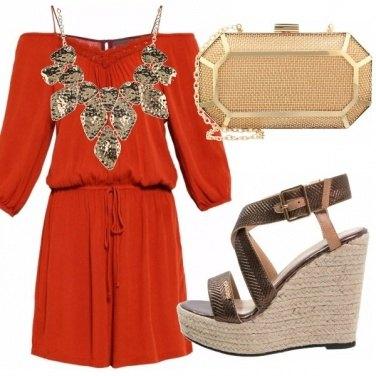Outfit Toni oro, arancio e bronzo!