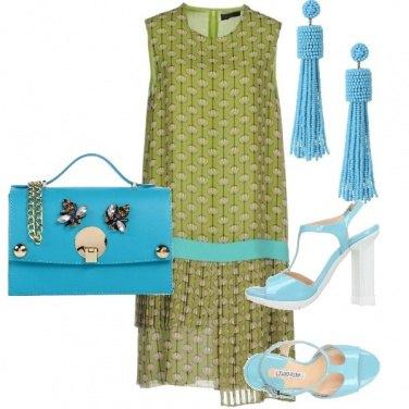 Outfit Oliva e turchese