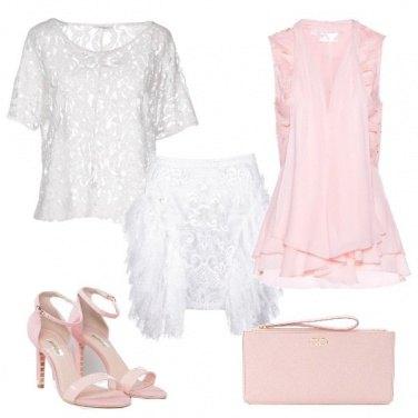 Outfit Pizzo e balze