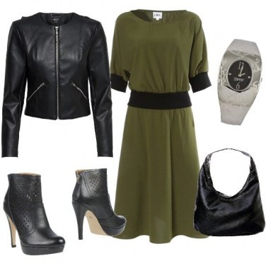 Outfit Black & Green Military