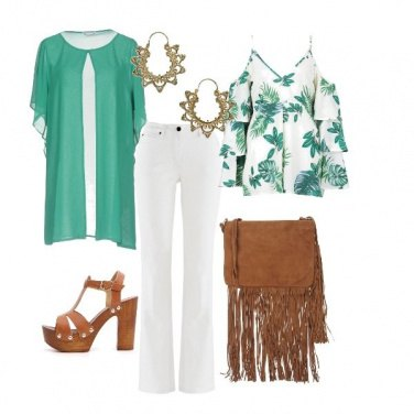Outfit Green Folk