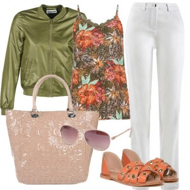 Outfit Giacca verde oliva