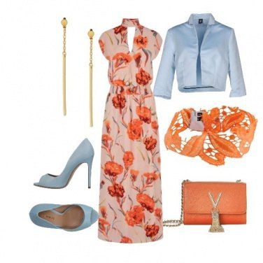 Outfit Orange Flower