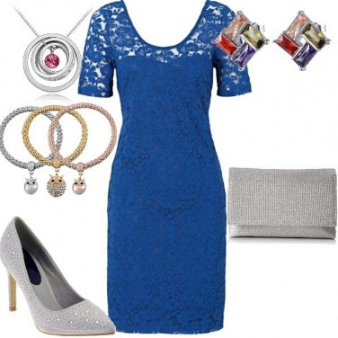 Outfit Cerimonia colorata