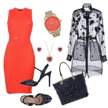 Outfit Il tubino arancio
