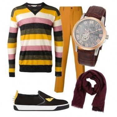 Outfit Il pantalone senape