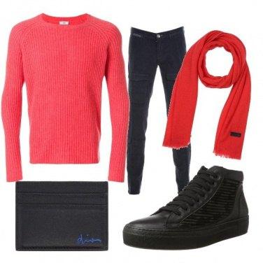 Outfit La sciarpetta rossa