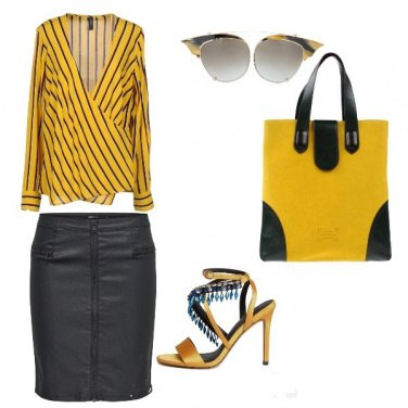 Outfit Uscita in giallo