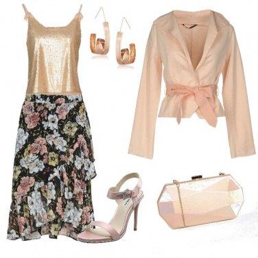 Outfit Paillet e fiori