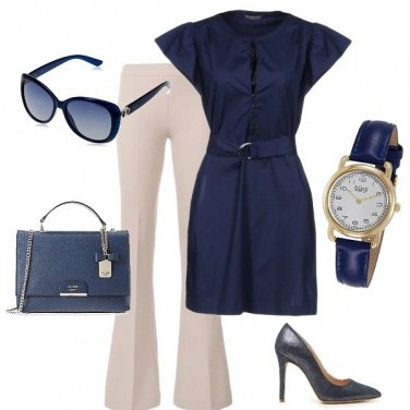 Outfit Ufficio - eleganza in blu