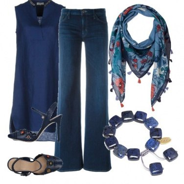 Outfit Total blue giorno