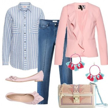 Outfit Volant rosa