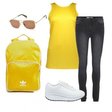 Outfit Sport in giallo