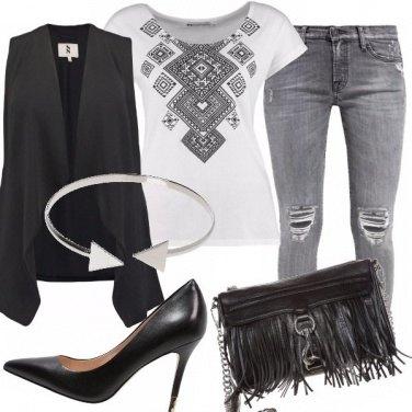 Outfit In bianco e nero...e grigio!