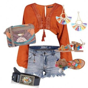 Outfit California Orange sunset