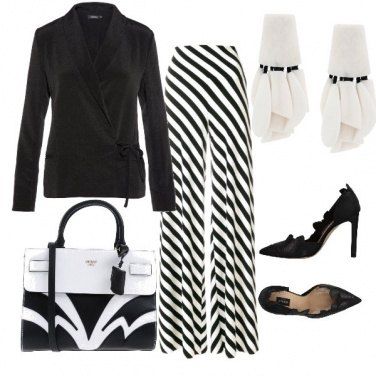 Outfit Black and white classico