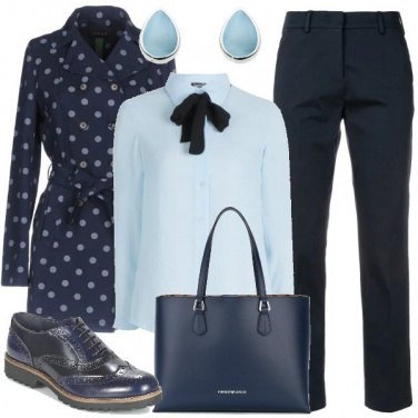 Outfit Pois sul trench
