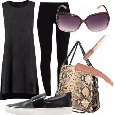 Outfit Black and nude